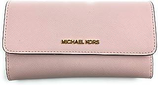 Michael Kors Women's Jet Set Travel Large Trifold Wallet (Powder Blush)