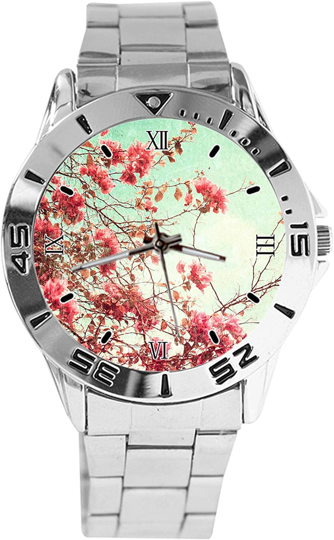 Vintage Flower Design Analog Wrist Watch Quartz Silver Clas Popular standard Dial Low price