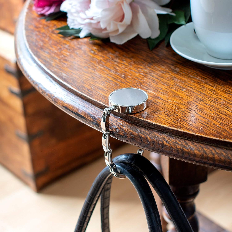 Gravado Handtaschenhalter aus Metall mit ausklappbarem Haken Aufh/änger Damen Accessoire