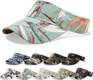 Kordear Sun Visor-Camouflage Baseball Cap,Printed Empty Top Hat Adjustable Tennis Visor Hat Ponytail Golf Running Outdoor ...