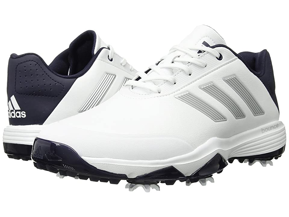 adidas Golf Adipower Bounce (Footwear White/Silver Metallic/Noble Ink) Men