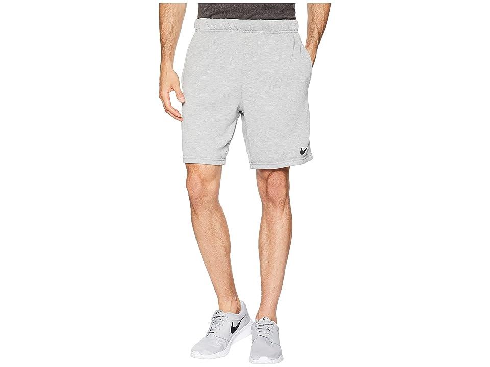 Nike Dry Fleece Hybrid Shorts (Dark Grey Heather/Black) Men