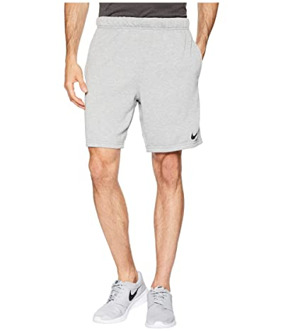 Nike Dry Fleece Hybrid Shorts (Dark Grey Heather/Black) Men