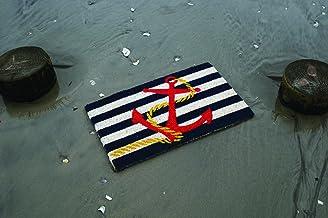 "Entryways Anchor , Hand-Stenciled, All-Natural Coconut Fiber Coir Doormat 18"" X 30"" x .75"""