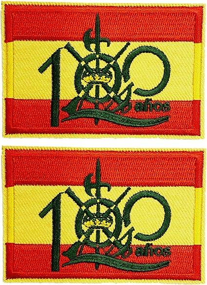 2 pcs Parche bandera 100 años Legión española 5,8x4cm ...