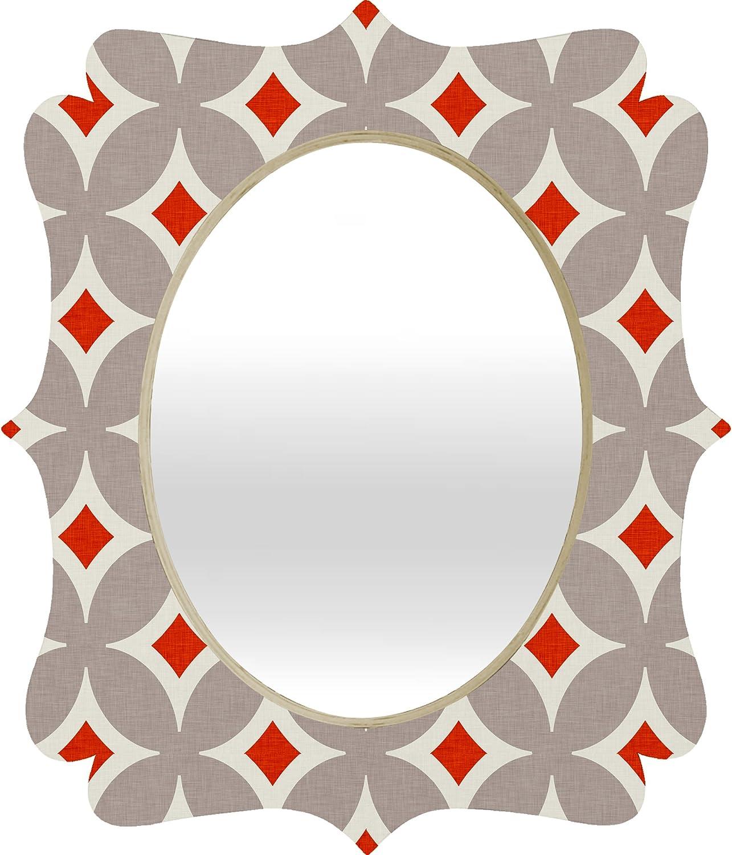 Deny Designs Holli Zollinger Vermillion Diamond Baroque Mirror