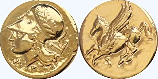 Golden Artifacts, Percy Jackson Fans, Athena and Pegasus, Famous Greek Coin, Annabeth's Goddess Mother, Goddess of Wisdom (PJ43-G)