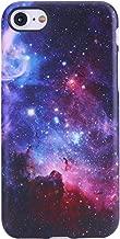 iPhone 7 Case,iPhone 8 Case,VIVIBIN Cute Galaxy Nebula Design for Man Women Girls Kids,Clear Bumper Best Soft Silicone Rubber Matte TPU Protective Cover Slim Fit Phone Case for iPhone 7/iPhone 8