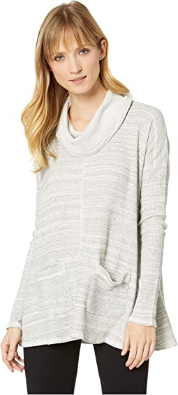 Spacedyed Thermal Long Sleeve Swingy Cowl Neck Pullover