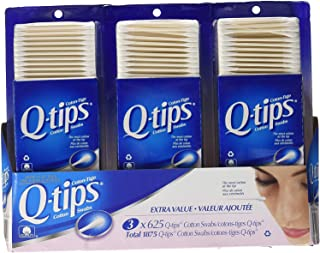 3 x Q-tips Cotton Swabs, 625 ct