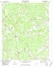 YellowMaps Delway NC topo map, 1:24000 Scale, 7.5 X 7.5 Minute, Historical, 1984, Updated 1984, 27 x 22 in