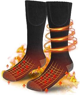 Yekale Heated Socks for Men/Women, Rechargeable Electric Thermal Socks, 3 Heating Settings Comfortable Winter Warm Socks f...