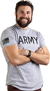Army PT Style Shirt   U.S. Military Physical Traning Infantry Workout T-Shirt