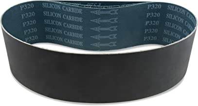 4 X 36 Inch 220 Grit Silicon Carbide Sanding Belts, 3 Pack
