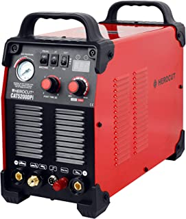 HeroCut CAT520DP Dual Voltage 110/220v HF Pilot Arc Non-Touch Arc Starting Plasma Cutter/Tig/Stick Welder 3 in 1 Combo Welding Machine, 14mm Clean Cut, 16mm Servance Cut #50Amps 70PSI