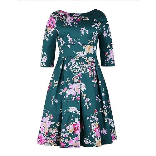 Plus Size 50s Tea Dresses: Amazon.com