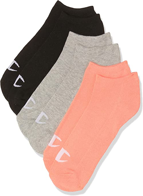Champion Women's C Logo Low Cut Sock (3 Pack)