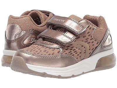 Geox Kids Jr Spaceclub 4 (Little Kid) (Dark Gold) Girls Shoes