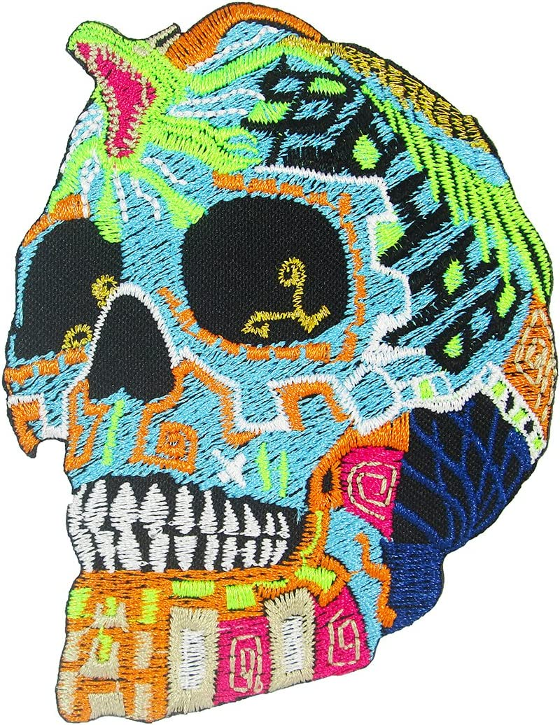 Day of the Dead Mexican Sugar Skull Embr Cobra with Iron King Sale special Dallas Mall price on