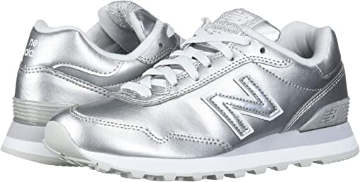 Silver Metallic/Silver Metallic Synthetic
