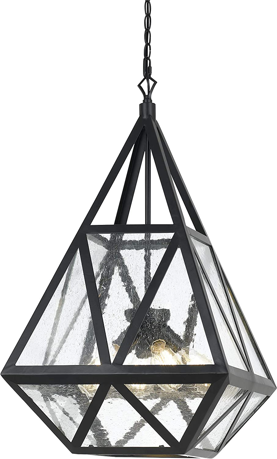 At the price Benjara Geometric Max 44% OFF Metal Frame Chandelier Multiple Faceted with S
