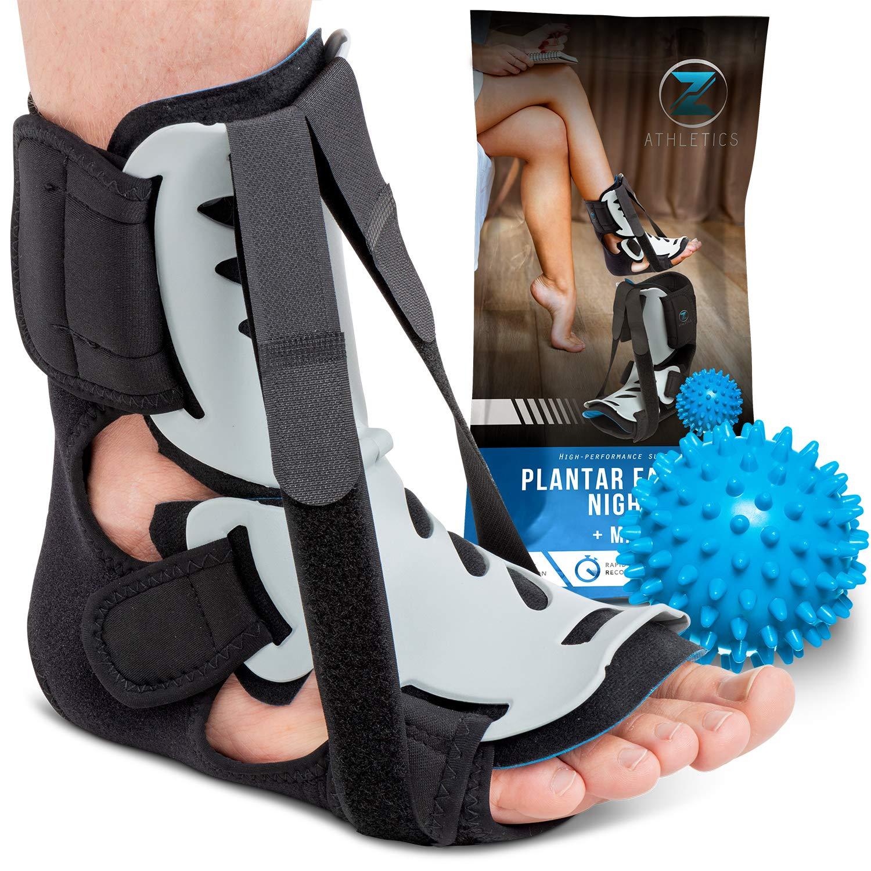 Heel Spur Wedge Foam LG Hard Shell Breathable Foam Arch Pain Adjustable Straps Foot Brace for Tendonitis Plantar Fasciitis Night Splint Achilles Tendon /& Calf Stretching Sleep Aid