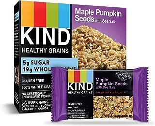 KIND Healthy Grains Bars, Maple Pumpkin Seeds with Sea Salt, Gluten Free, 1.2 Ounce, 40 Count