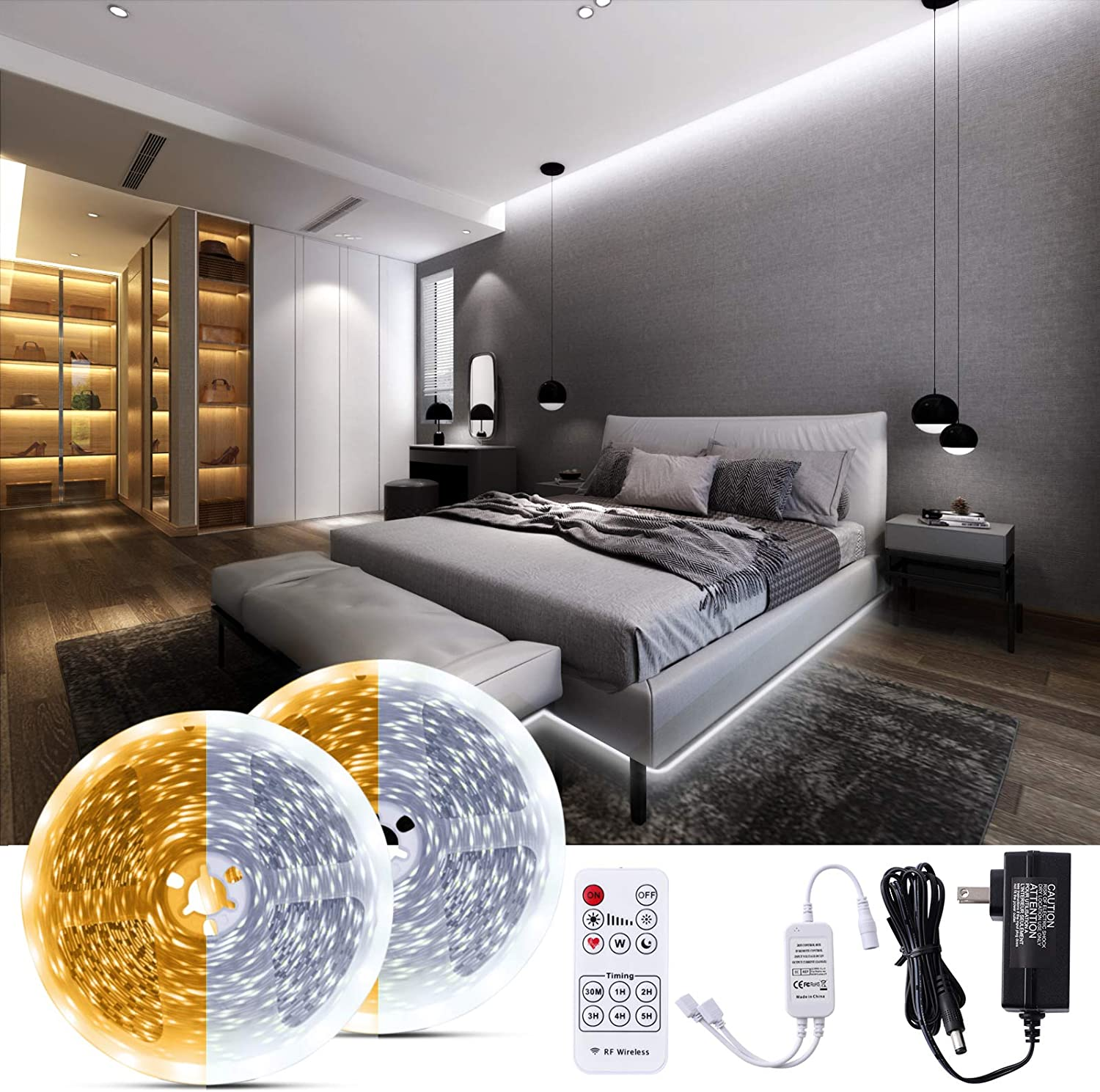 Bewahly LED Strip Light 3000K-6000K 65.6ft White Tunable Dimma Ranking TOP6 Popular brand in the world