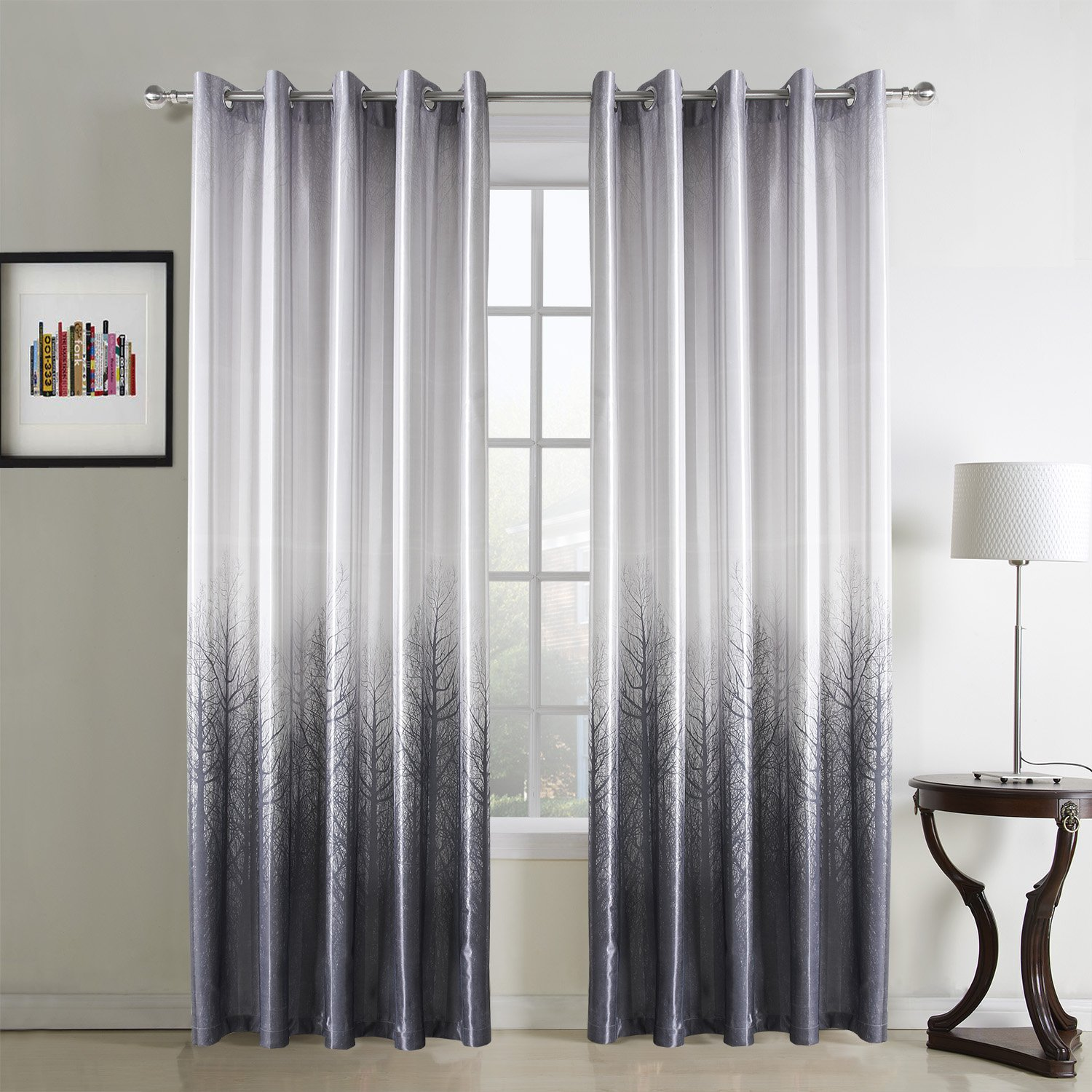 white and grey curtains amazon co uk rh amazon co uk yellow grey living room curtains living room curtains grey sofa