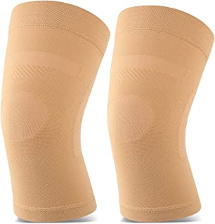 TOFLY Knee Sleeves, 1 Pair, Lightweight Knee Brace Fit for Men & Women, Knee Compression Sleeves Support for Pain Relief, Joint Pain, Arthritis, Running, Sports, Meniscus Tear, Injury Recovery