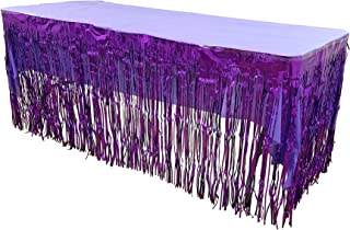 Funeez Set Of Metallic Foil Fringe Table Skirt 30