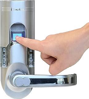 iTouchless Bio-Matic Fingerprint Door Lock, Right Handle, Silver