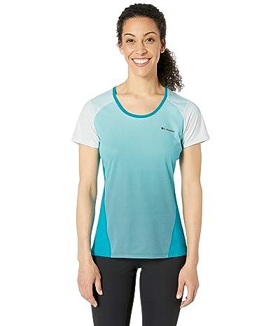 Columbia Solar Chilltm 2.0 Short Sleeve Shirt (Modern Turquoise) Women