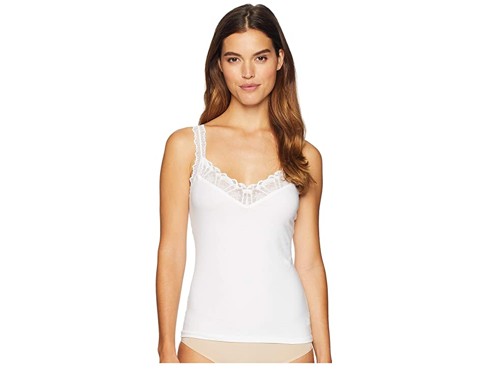 Hanky Panky Cotton with Lace Cami (White) Women