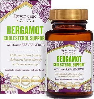 Reserveage, Bergamot Cholesterol Support, Antioxidant Supplement for Cardiovascular Support, Vegan, 30 capsules (30 servings)