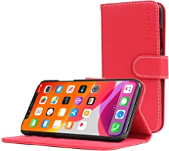Snugg iPhone Xs (2018) / iPhone X (2017) Wallet Case – Leather Card Case Wallet with Handy Stand Feature – Legacy Series Flip Phone Case Cover in Red