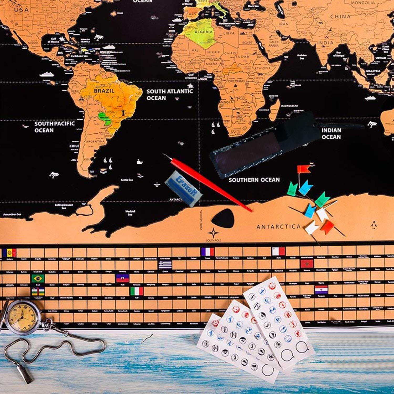 Mapa Mundi de Rascar Herramienta, Haice DIY Juego de Herramientas ...