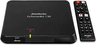 AVerMedia ER130 EzRecorder 130 - Capturadora de vídeo HD, PVR, DVR, grabación programada, compatible con MP4 (H.264 / AAC), ligero y portátil, sistema de configuración fácil de usar