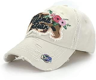 District Unisex Animal Mama Distressed Adjustable Hat Cap