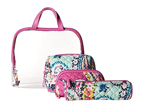 Vera Bradley Iconic Four-Piece Cosmetic Set Wildflower Paisley Really Cheap Price Huge Surprise Sale Online Buy Cheap Perfect Free Shipping Low Shipping BZ9Imc