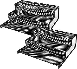 Minggoo 3 Tier Spice Rack Step Shelf for Kitchen Pantry Cabinet Organizer, Metal