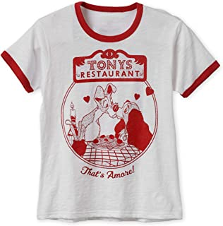 Disney Lady and The Tramp Ringer T-Shirt for Women Multi