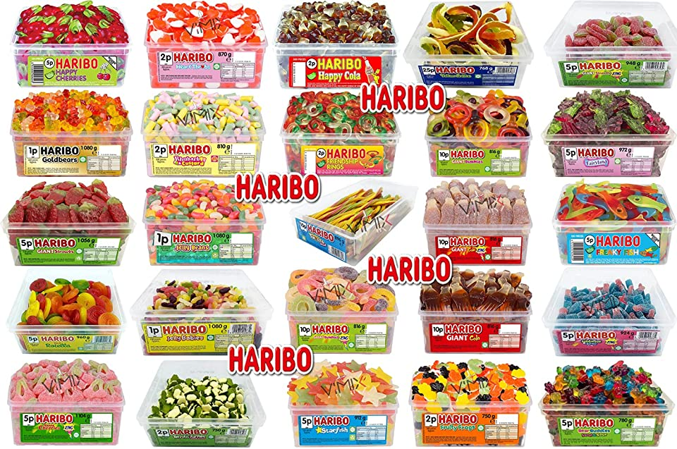 Haribo Tub - Pick Any Your Favourite 03 DIFFRENT Flavours Tubes