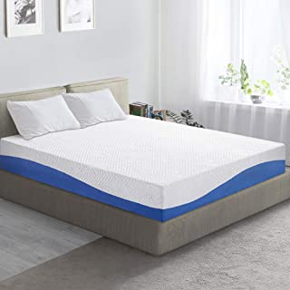 PrimaSleep Wave Gel Infused Memory Foam Mattress, 10'' H, Twin, Blue