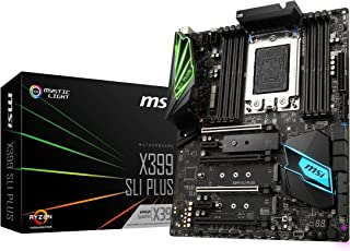MSI Pro AMD ryzen threadripper DDR4 VR Listo HDMI USB 3 SLI Crossfire ATX Placa Base (x399 SLI Plus)