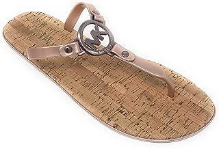 MK Charm Jelly PVC Flip Flop Sandal, Sable