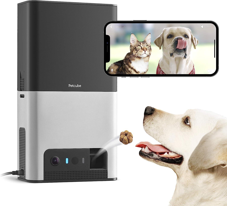 Cámara de vigilancia para perros con dispensador de golosinas