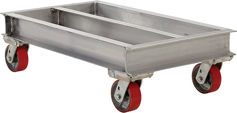 Vestil ACP 2436 20 Aluminum Channel Dolly With Phenolic Casters Caster 2000 Lbs Capacity 36 Length X 24 Width X 10 5 8 Height Deck