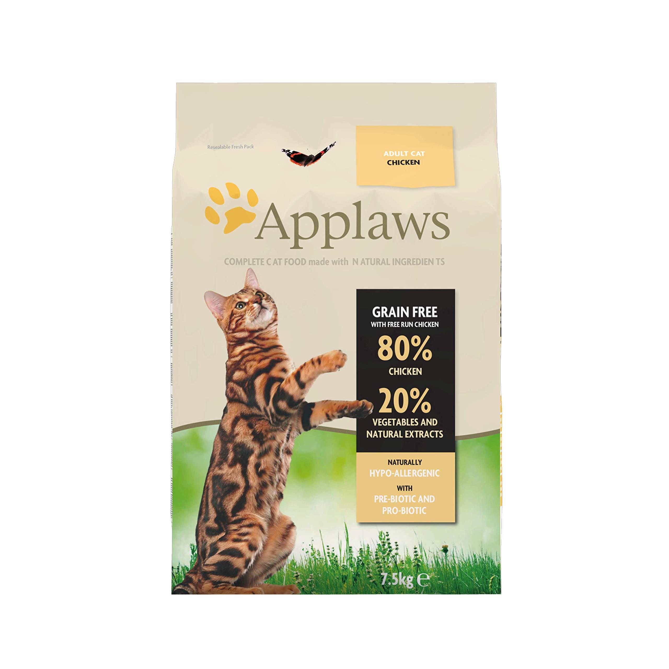 Applaws Comida Seca para Gatos Pollo (1 x 7,5 kg): Amazon.es ...
