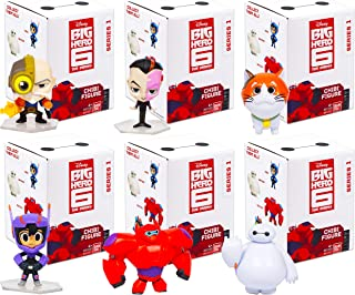 Disney Big Hero 6 Toy Figures Big Hero 6 Blind Bags - 6 Pack Big Hero 6 Party Supplies Party Decorations Featuring Baymax, Hiro, Gogo, Fred, and More (Big Hero 6 Blind Pack party Favors)
